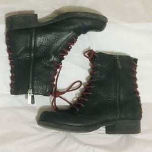 Sam Edelman Circus Lace Up Combat leather Boots
